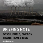 Briefing note: Fossil fuels, energy transition, and risk