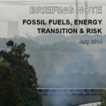 Briefing note: Fossil fuels, energy transition & risk, July 2014