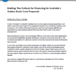Briefing note: The Outlook for Financing for Australia's Galilee Basin Coal Proposals