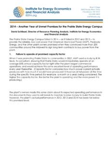 Prairie State Unmet Promises 022615