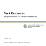Teck Resources: Rough Road on Oil Sands Investments
