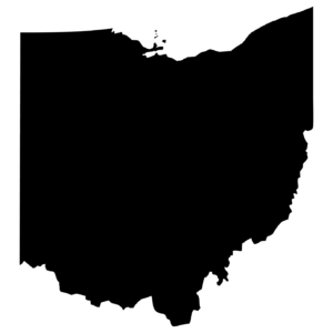 High detailed vector map - Ohio