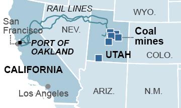 Port of Oakland Utah Map
