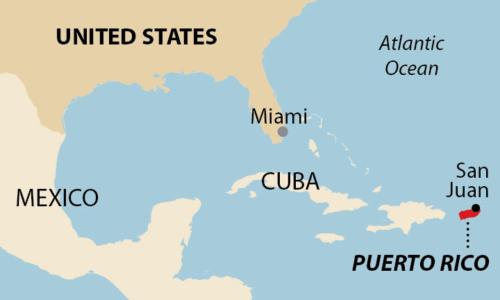 Puerto Rico US Globe