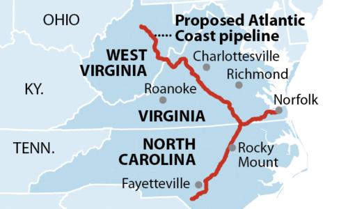 Proposed Atlantic Coast pipeline