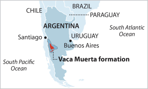 Vaca Muerta Map