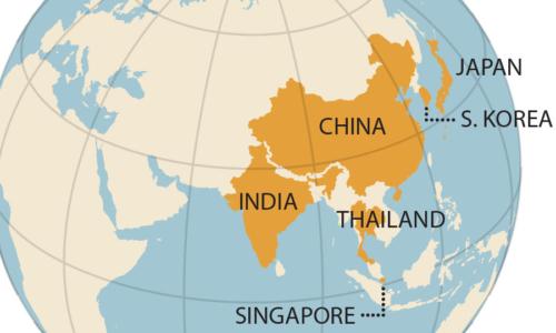 India China Globe
