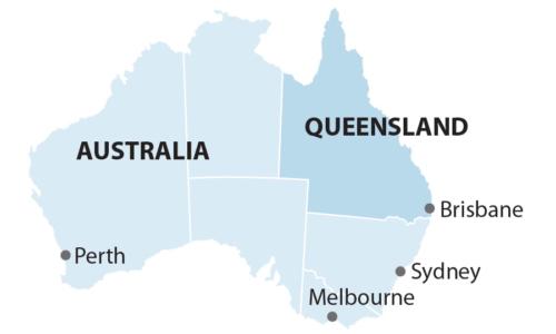 Australia Queensland map