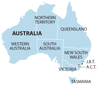 Australia States only map