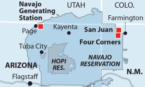 San Juan Navajo map