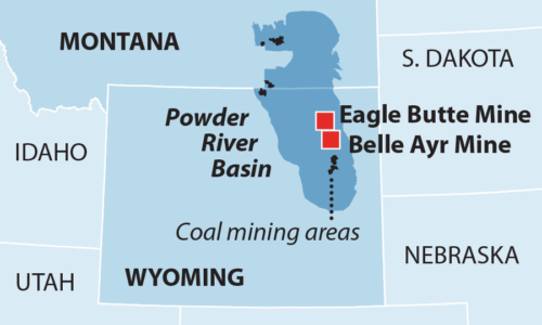 Wyoming coal mining areas
