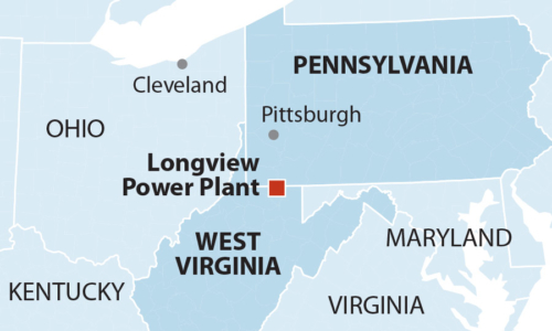 Longview Power Plant map