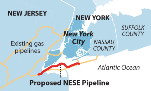 New York NESE pipeline map