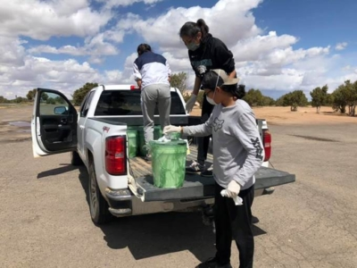 Navajo Truck with Sanitizer
