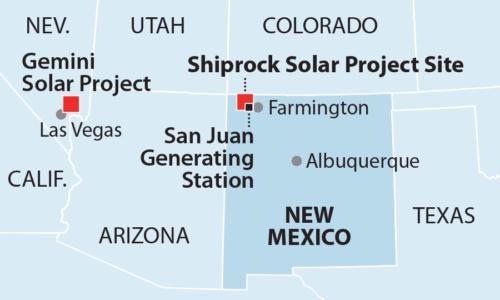 Shiprock Solar Project map