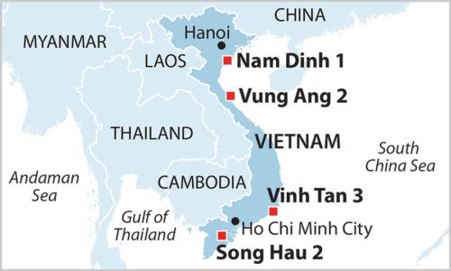 Vietnam Coal Pipeline map