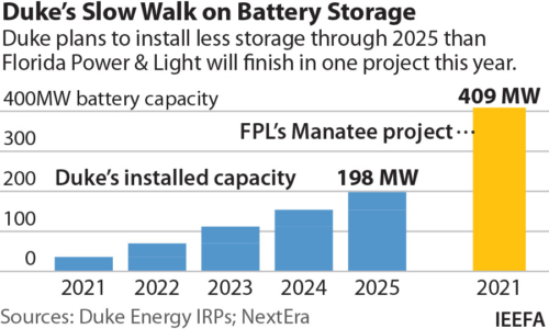 Duke's Slow Walk on Battery Storage