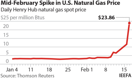Mid-February spike in U.S. natural gas price