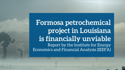 Formosa petrochemical project in Louisiana is financially unviable