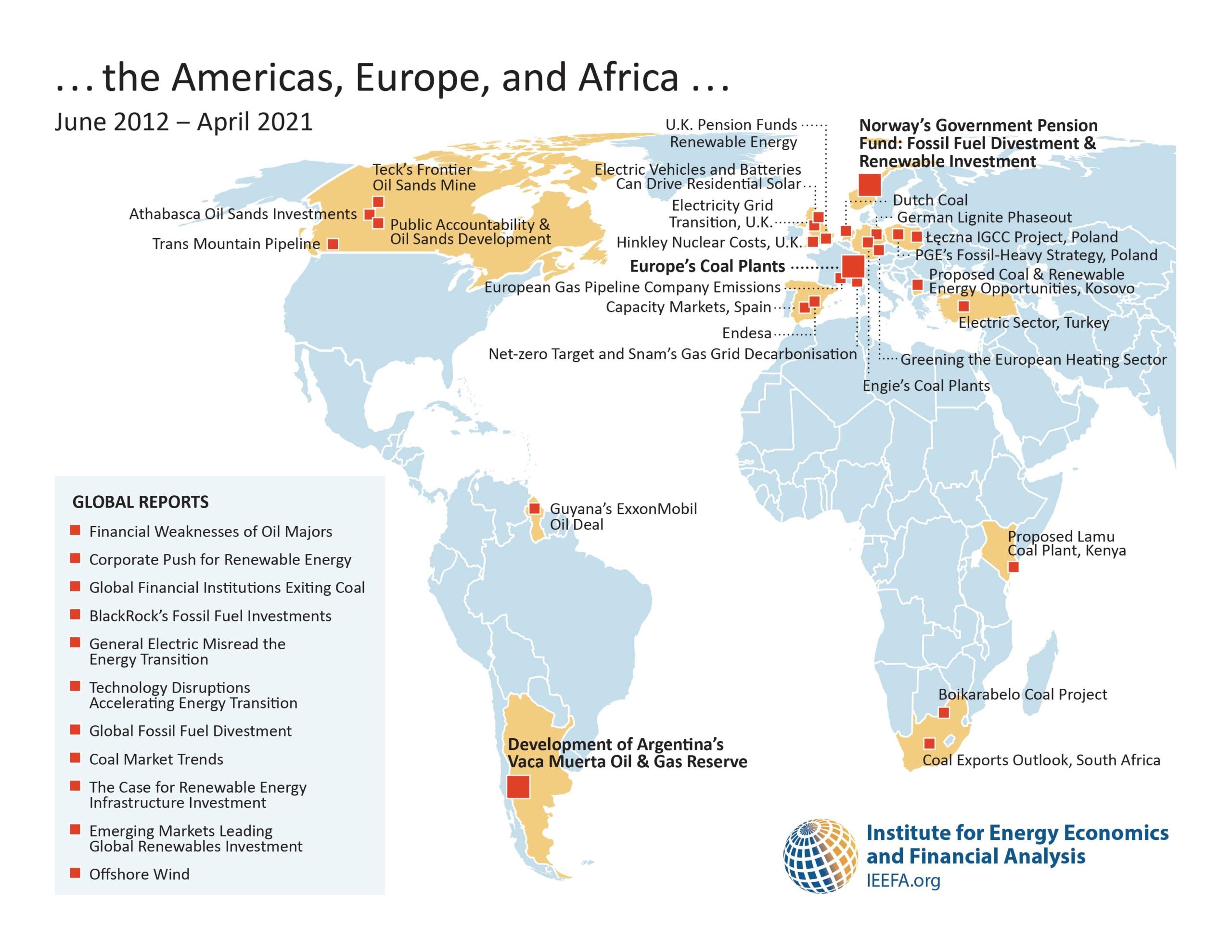 IEEFA reports AMERICAS map 2021