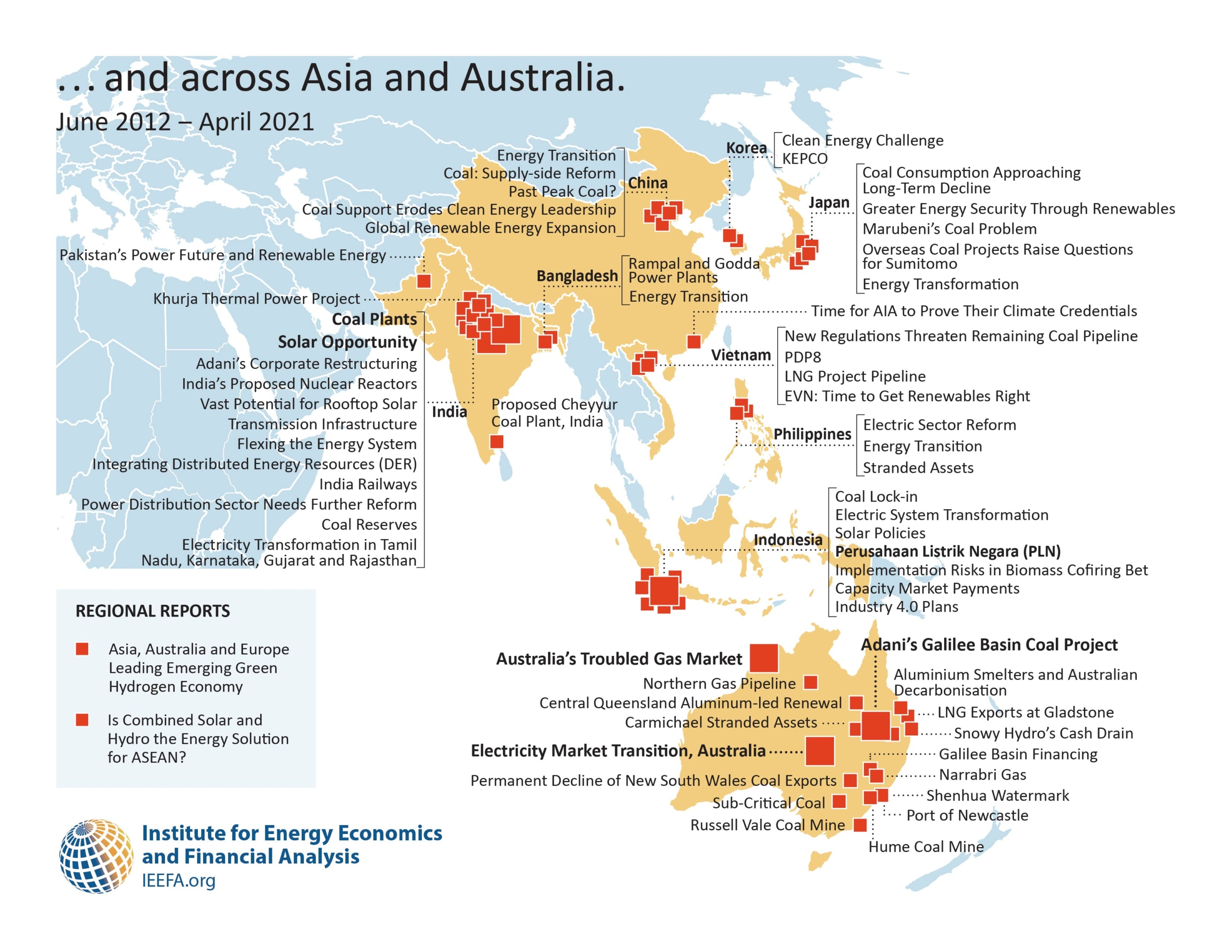 IEEFA reports ASIA map 2021