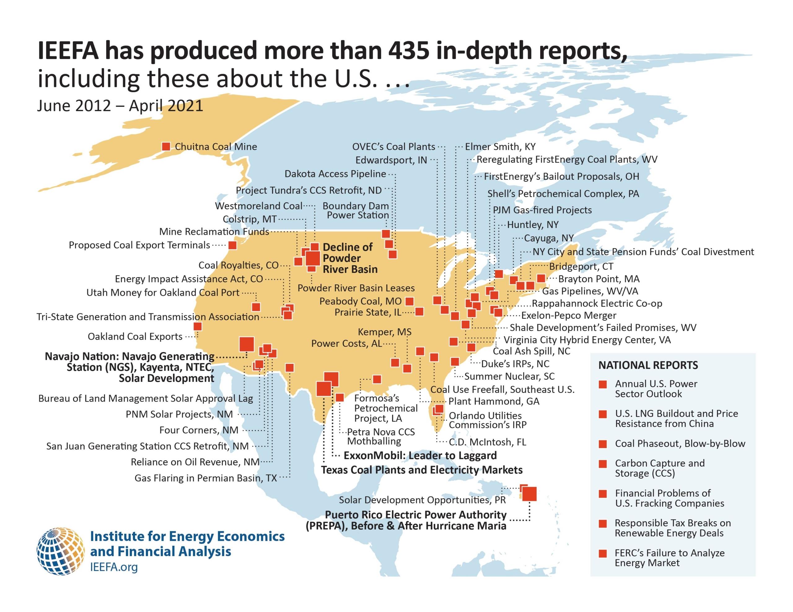 IEEFA reports US map 2021