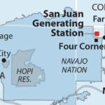 Map of San Juan Generating Station in NM near CO border