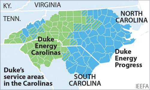 Duke Energy territory map