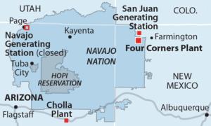 Arizona Navajo Community Transition map