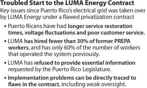 IEEFA PR LUMA SERVICE contract issues