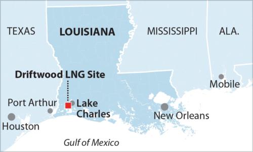 Tellurian LNG site Lake Charles Louisisana