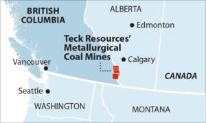 IEEFA Teck Met Coal Mine Map
