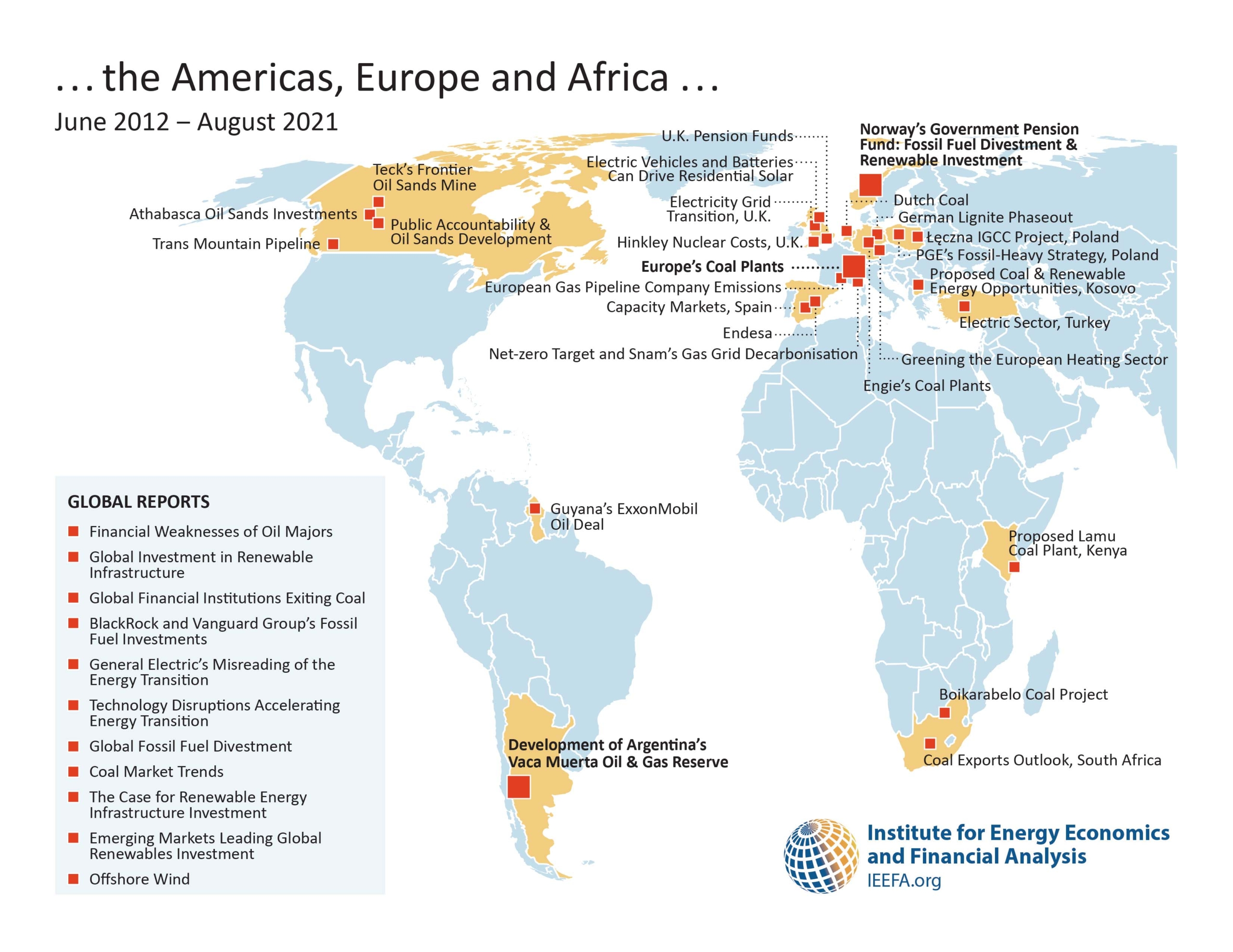 IEEFA Reports in Americas, Europe and Africa