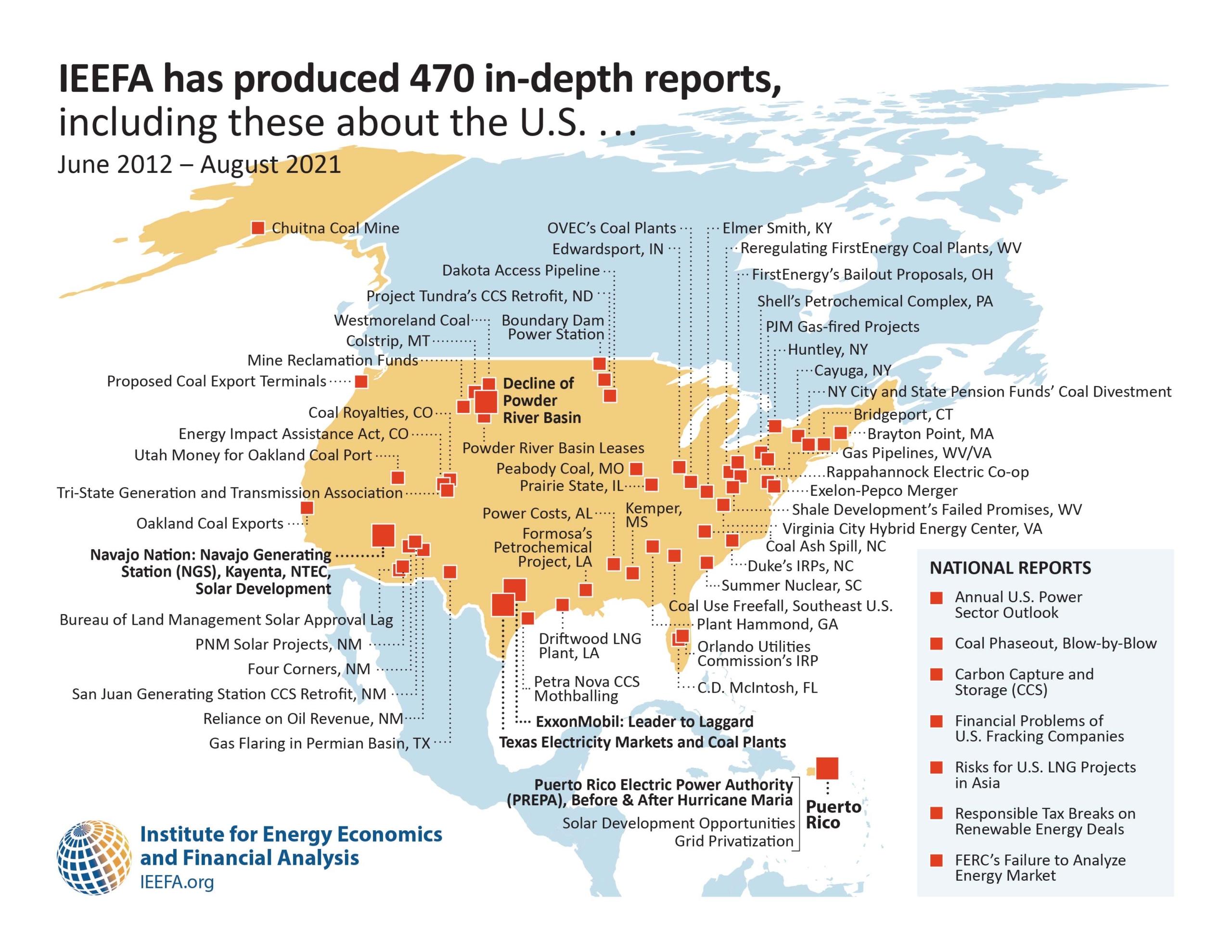 IEEFA Reports in the U.S.